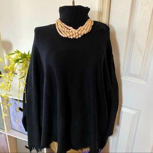 Joan Vass Dolman Sleeve Turtleneck Sweater L/XL